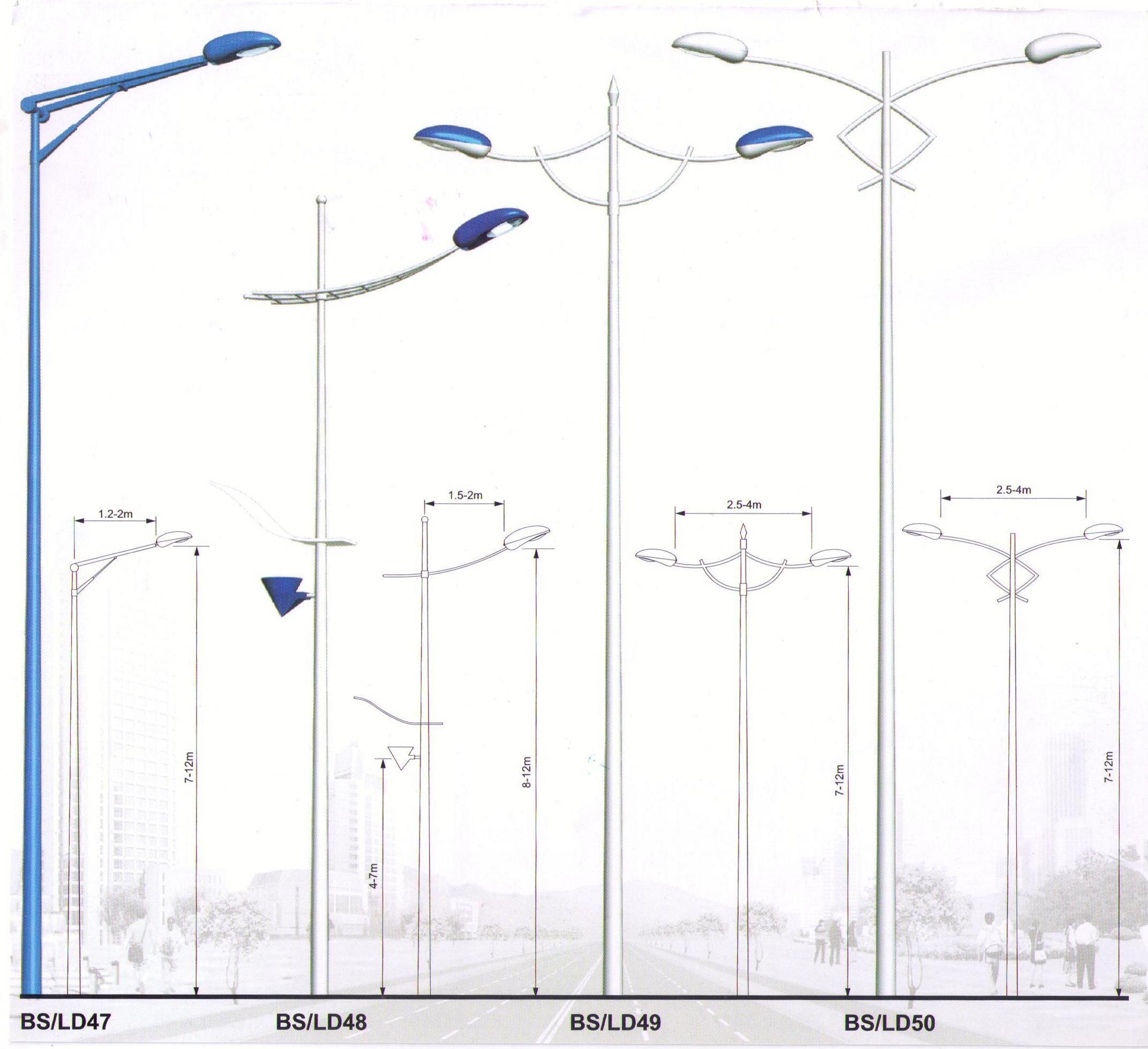 Street Light Poles Manufacturer and Dealer | Bangalore